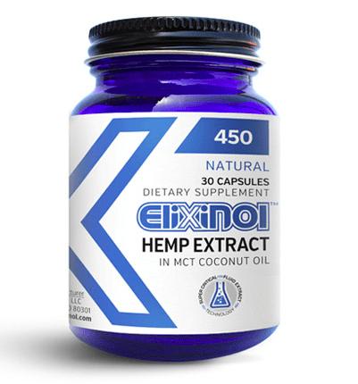 Elixinol CBD Capsules Regular Strength 30 Capsule Bottle