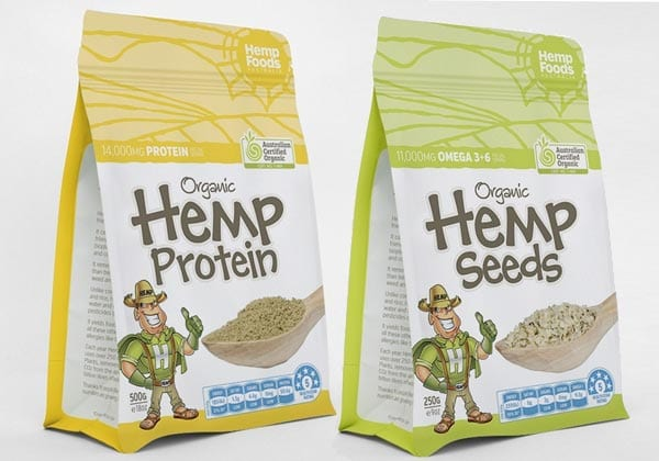 Hemp Seeds and Protein Powder Products