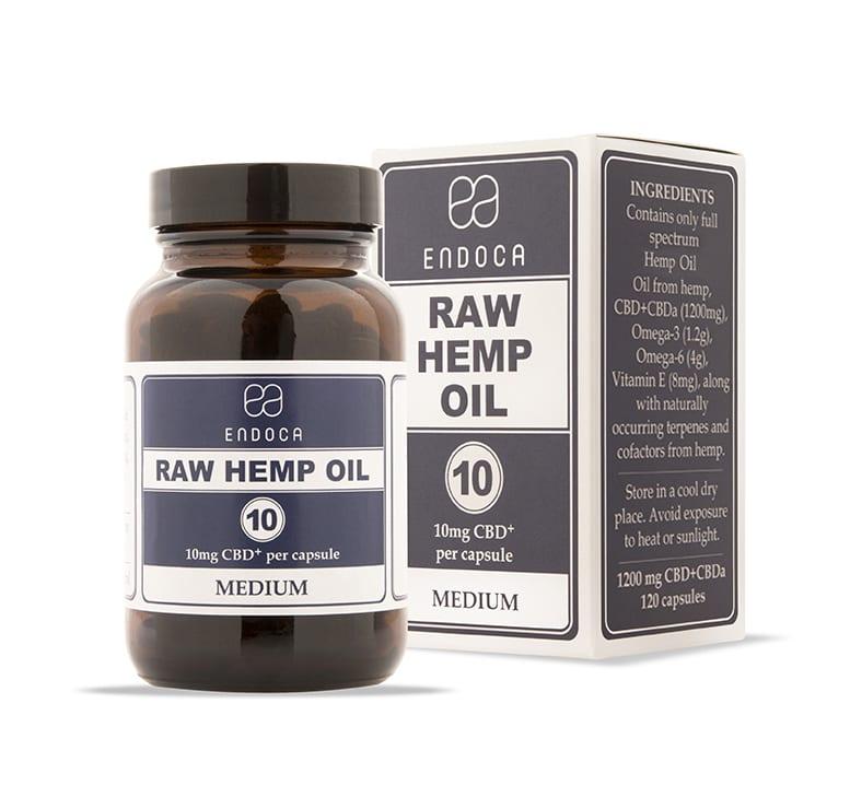 Endoca Raw CBD Capsules - Medium