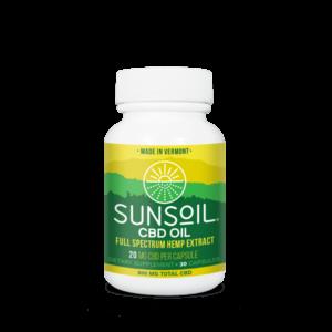 Sunsoil CBD Oil Capsules 30 Count Bottle
