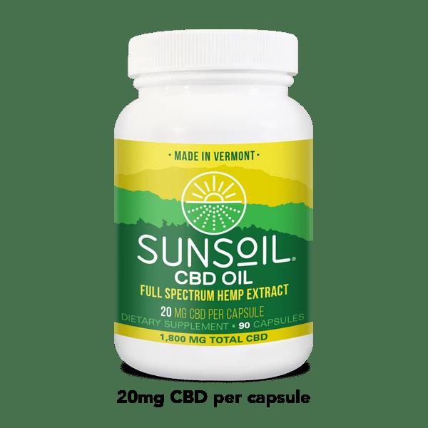 Sunsoil CBD Oil Capsules 90 Count Bottle