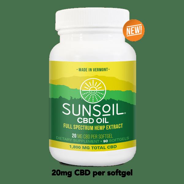 Sunsoil CBD Oil Softgels 90 Count Bottle