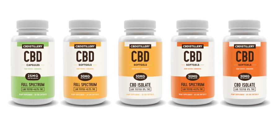 CBD Capsules and Softgels Products