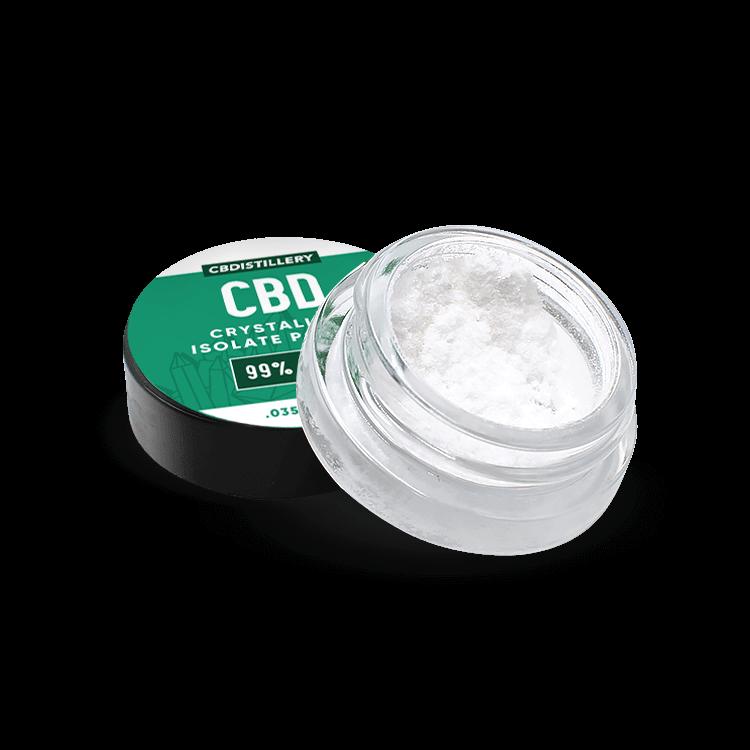CBDistillery 99+% Pure CBD Isolate Crystalline Powder Jar