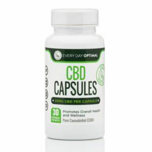 Pure CBD Oil Capsules, 25mg CBD Oil Per Pill Product