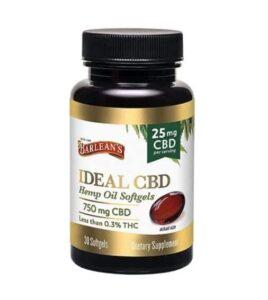 Barlean's Ideal CBD Hemp Oil Softgels - 25mg per Softgel, 30ct Product