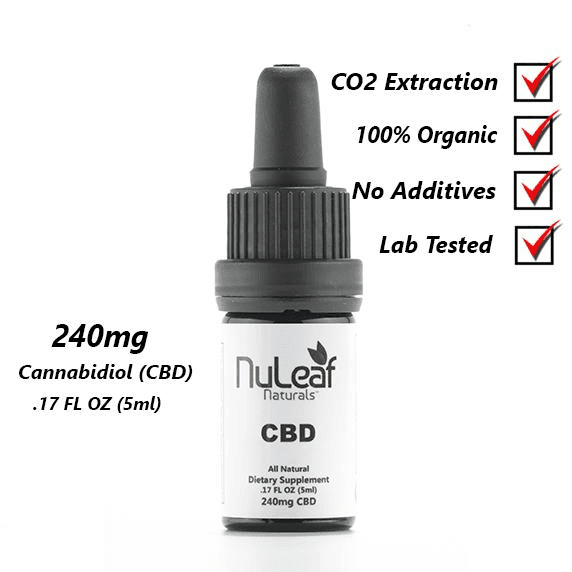 240mg Full Spectrum CBD Öl, High Grade Hemp Extract (50mg/ml) Produkt