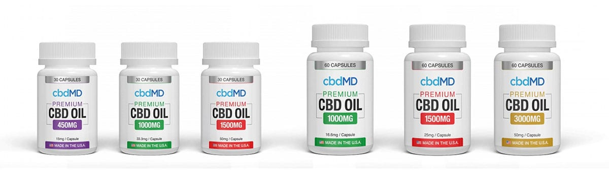 cbdMD CBD Oil Capsules Products