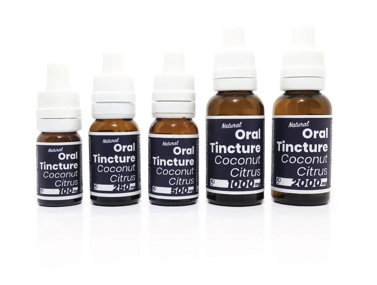 4 Corners Blue Label Oral Tincture Bottles