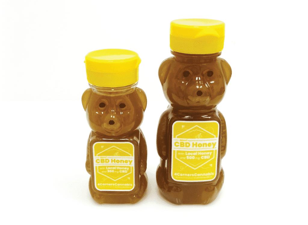 4 Corners Cannabis CBD Honey Bears Jar