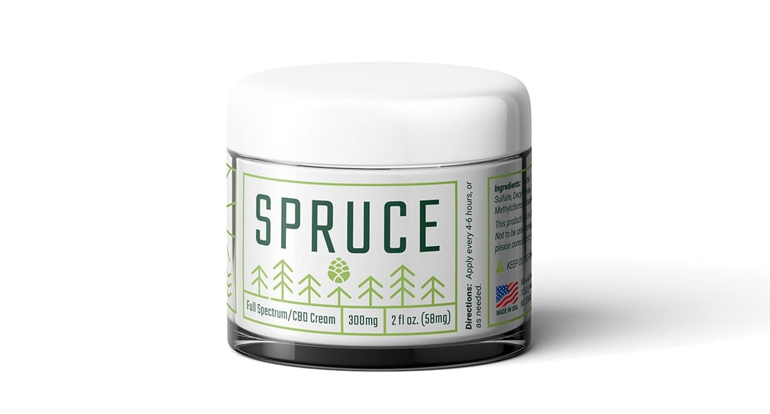 Spruce Topical CBD Cream Jar