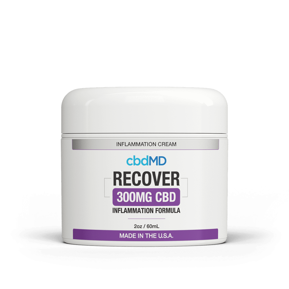 cbdMD CBD Recover Inflammation Cream Bottle