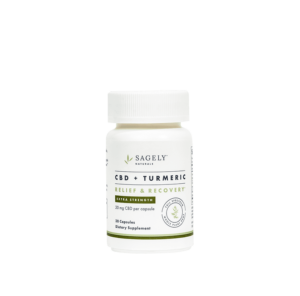 Sagely Naturals Extra Strength Relief & Recovery Capsules Bottle