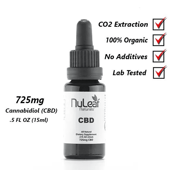 Nuleaf Naturals 725mg Full Spectrum CBD Oil