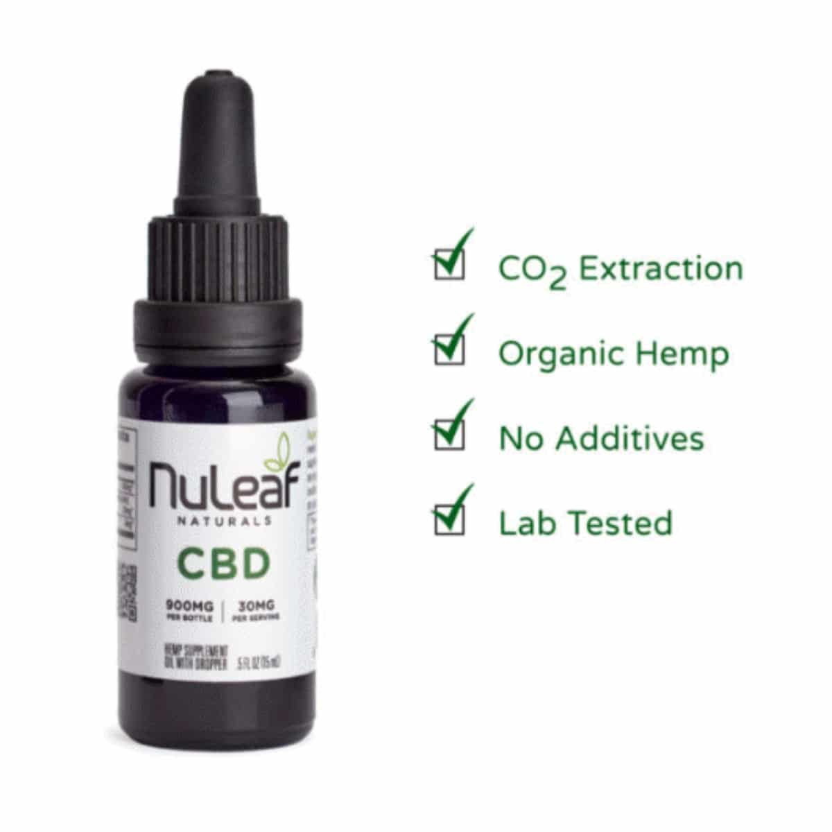 NuLeaf Naturals 900mg Full Spectrum Hemp CBD Oil