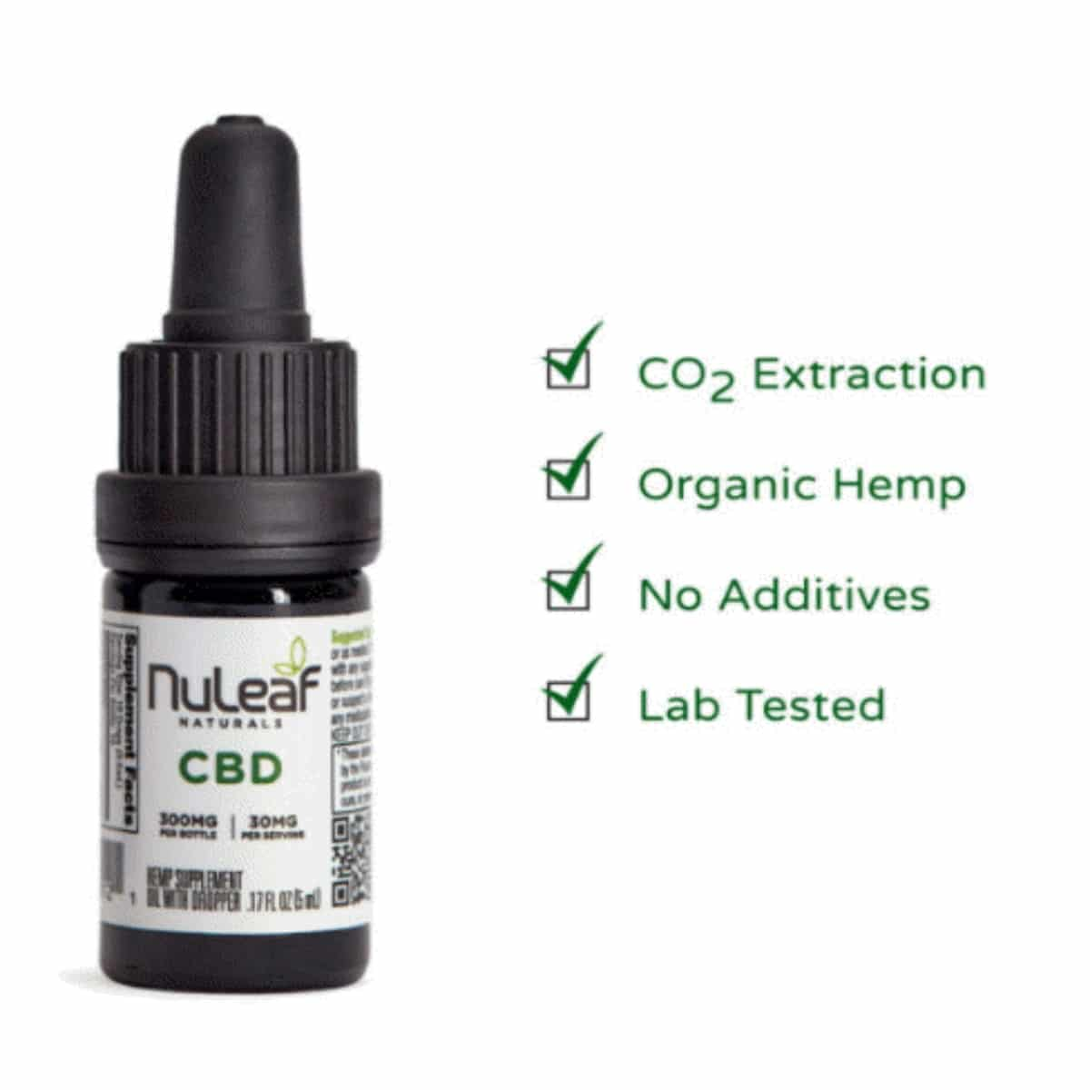 NuLeaf Naturals 300mg Full Spectrum Hemp CBD Oil